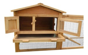 Bunny Business Double Decker Wooden Rabbit Hutch